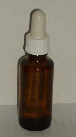 10 ml barna folyadéküveg pipettás kupakkal